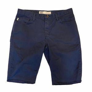 Vans Navy Blue Shorts Chino Skater Bermuda Men 33